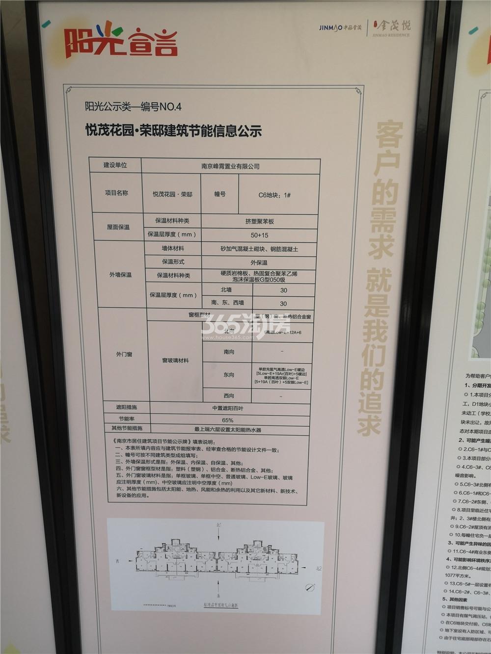 扬子江金茂悦C6地块节能信息公示