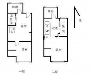 万科金色里程 精装复式两房 拎包入住 园林式小区