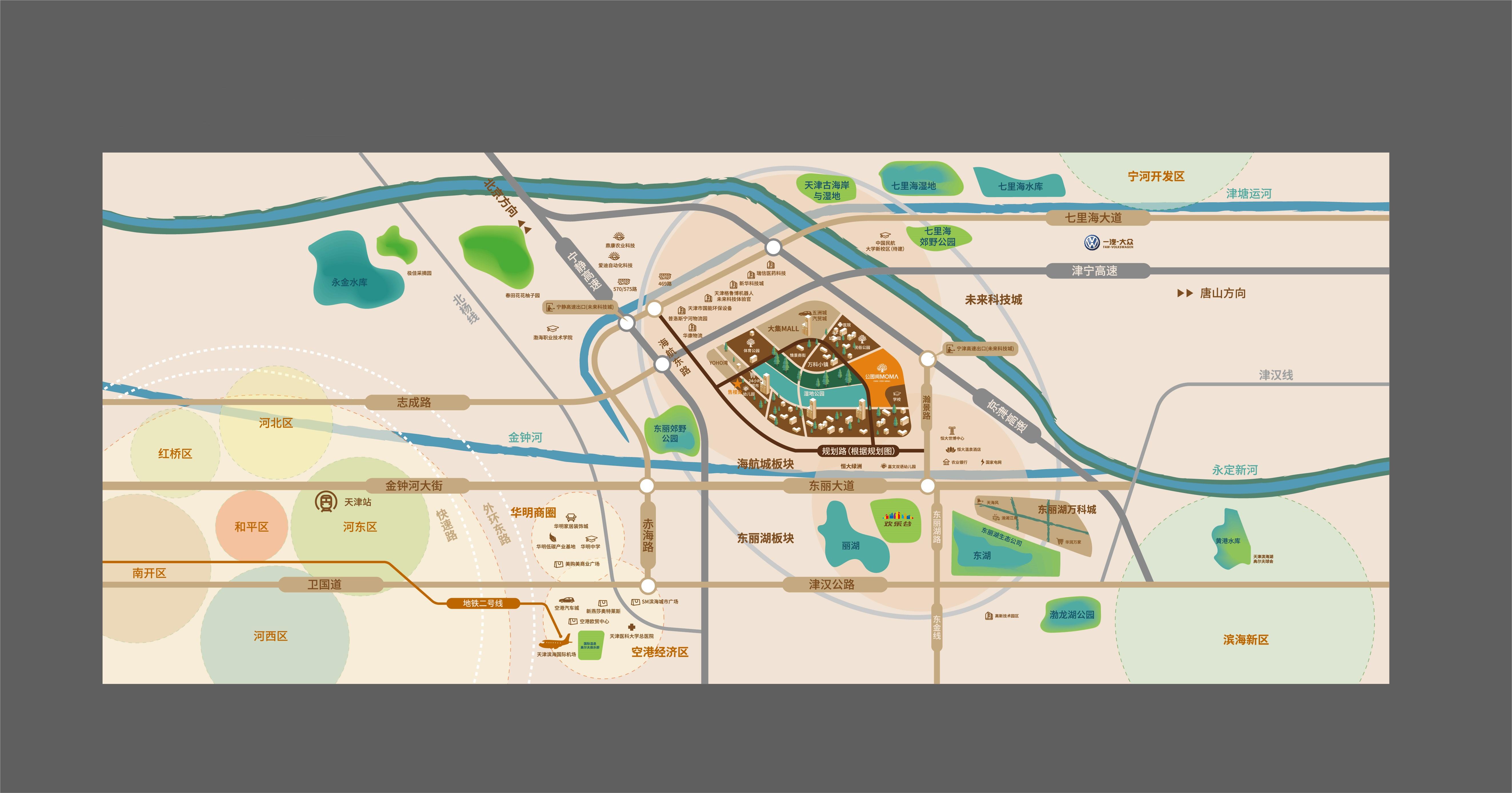 当代公园阅ΜΟΜΛ交通图