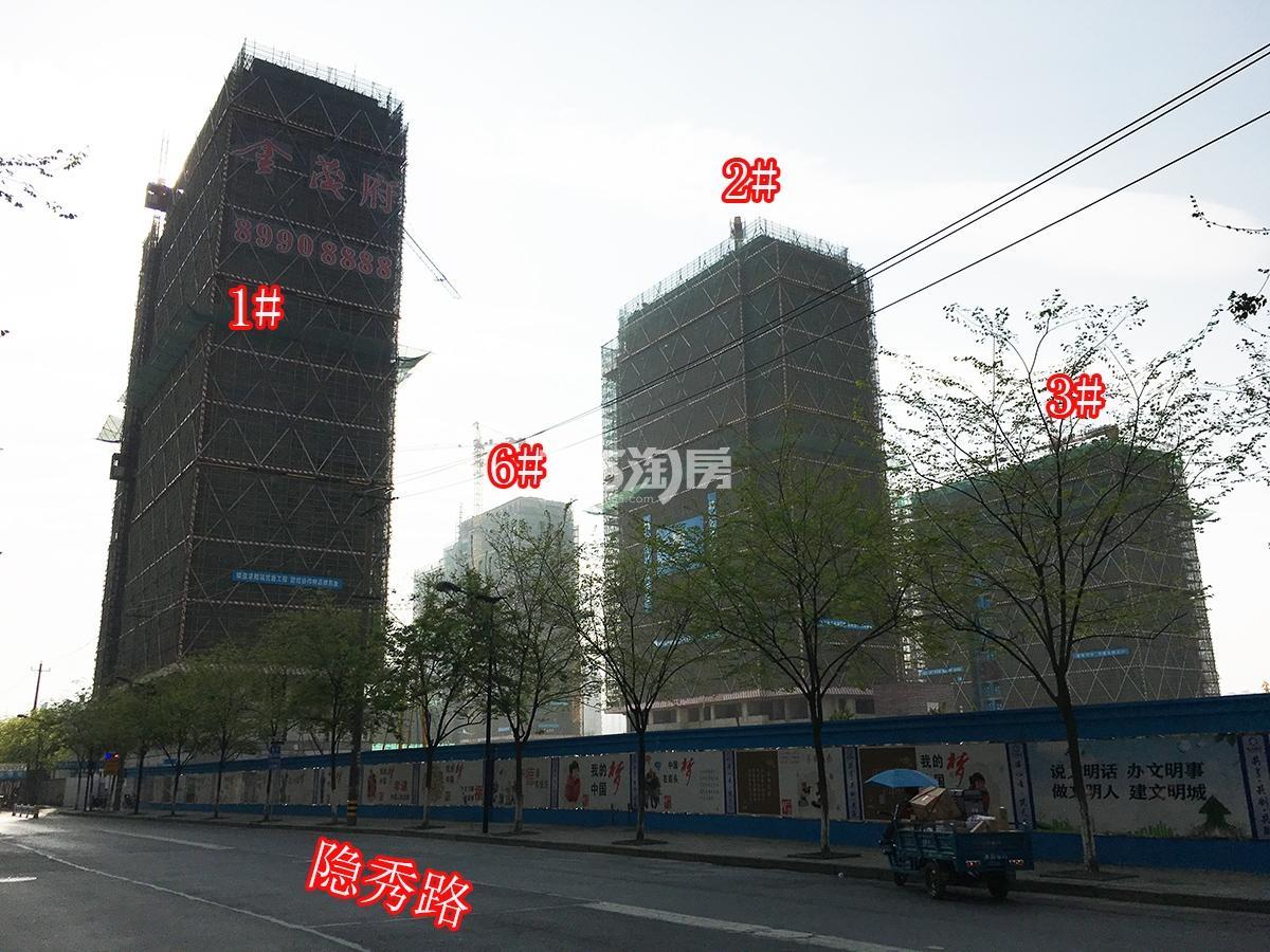 2018年3月31日首开杭州金茂府1-3、6号楼实景