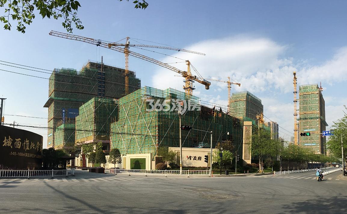 2018年3月31日首开杭州金茂府在建楼栋全景
