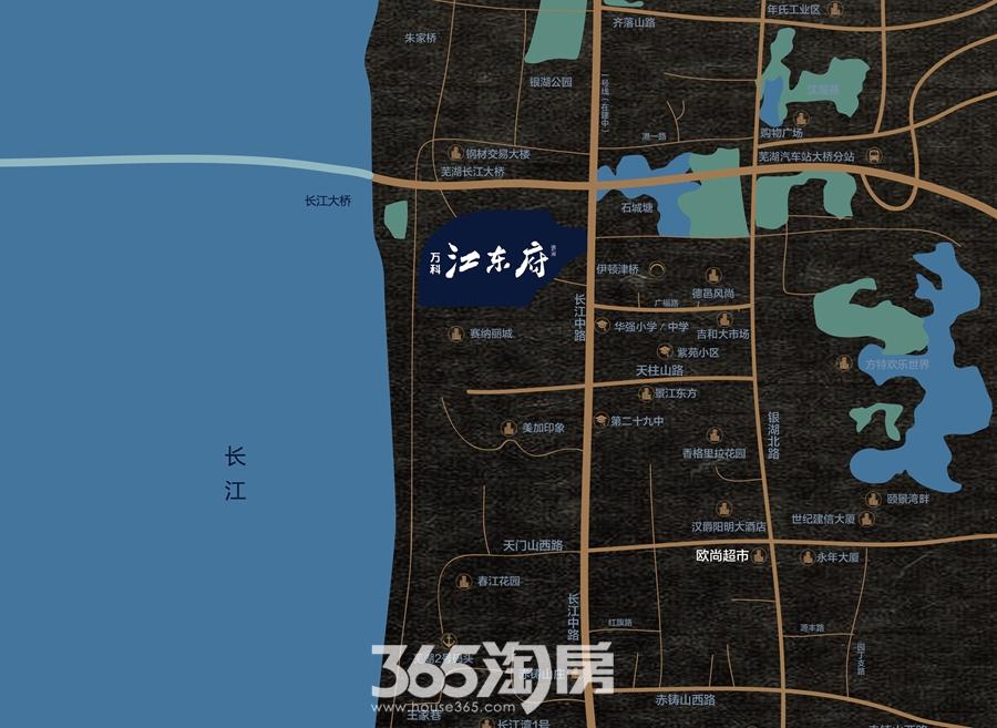 万科江东府交通图