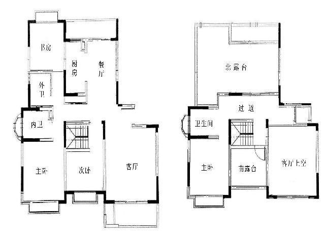 越湖名邸4室2厅3卫183.47㎡2010年满两年产权房毛坯