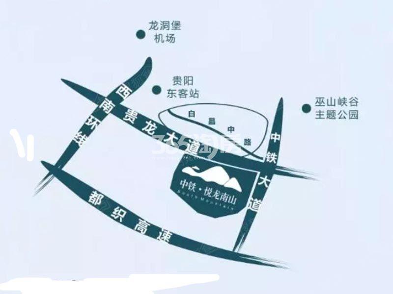 中铁悦龙南山交通图