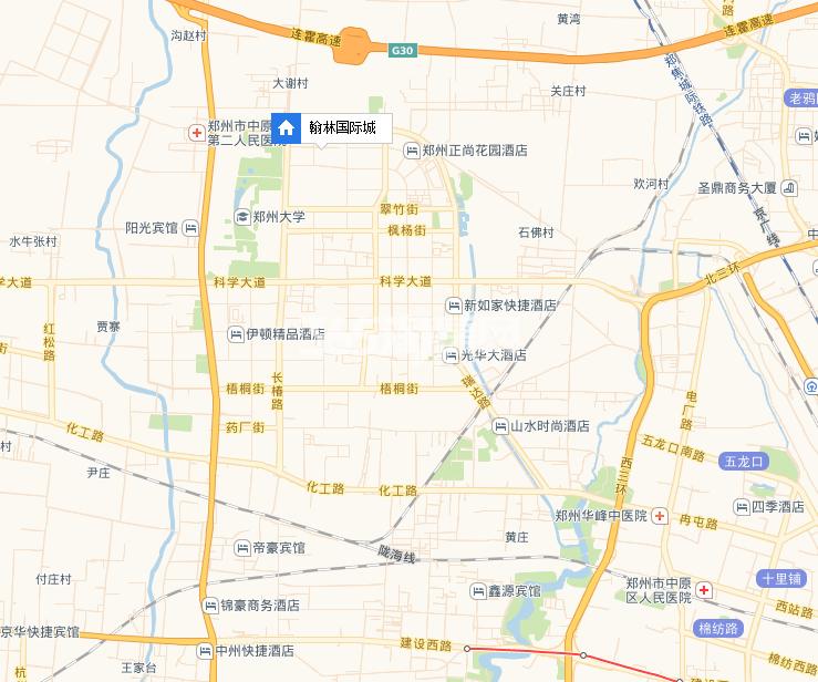 翰林国际城交通图