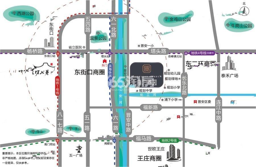 中海锦园交通图