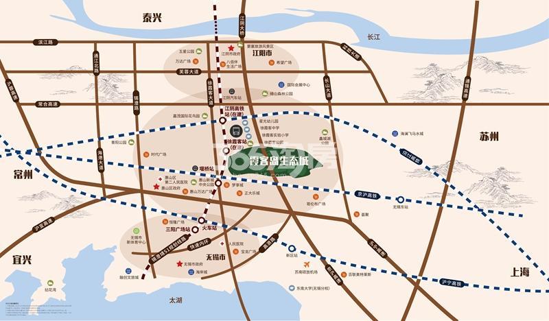 霞客岛生态城交通图