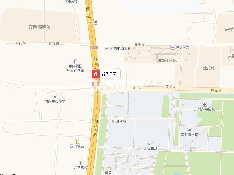 裕华满园交通图