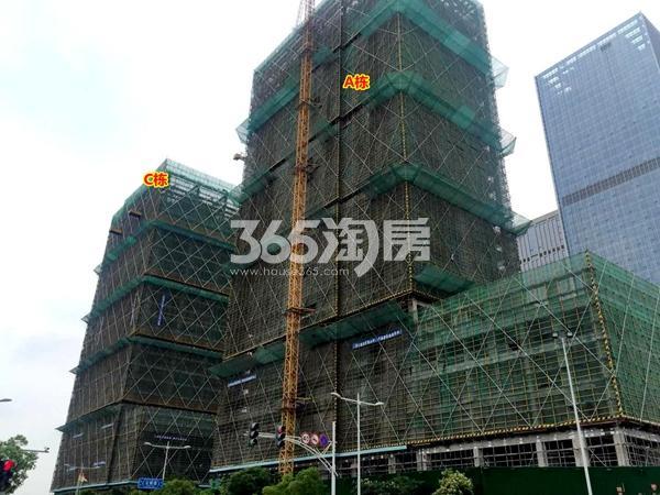 阳光100喜马拉雅A栋、C栋公寓工程进度实景(2018.6摄)