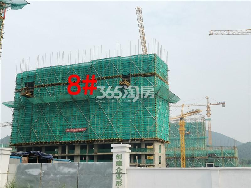 绿地理想城悦湖公馆在建8#楼实景图(8.26)