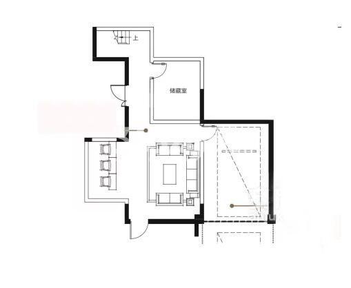 万科城润园4室2厅2卫1厨147平户型(顶层)