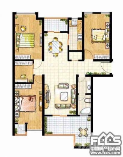 阳光豪庭3室2厅2卫120平米豪华装产权房2013年建