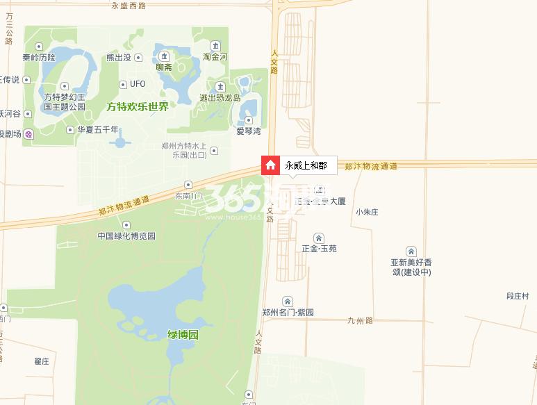 永威上和郡交通图