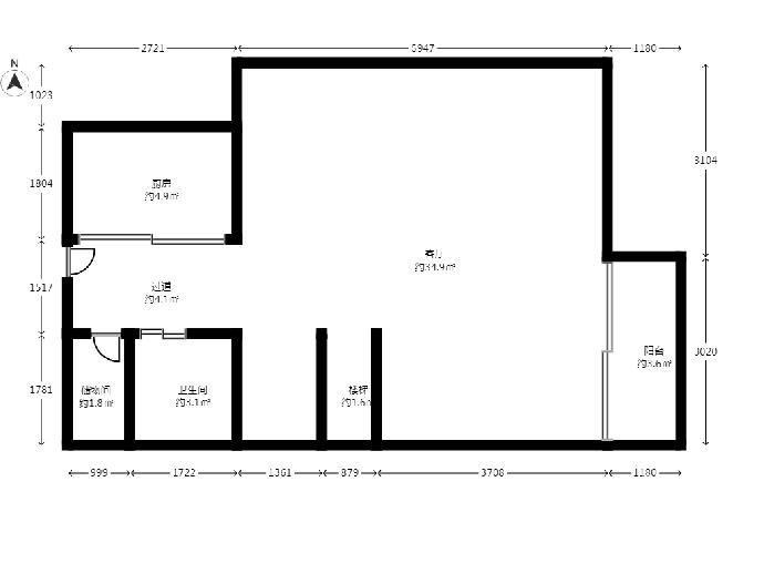 五矿御江金城2室2厅2卫150平米豪华装产权房2012年建