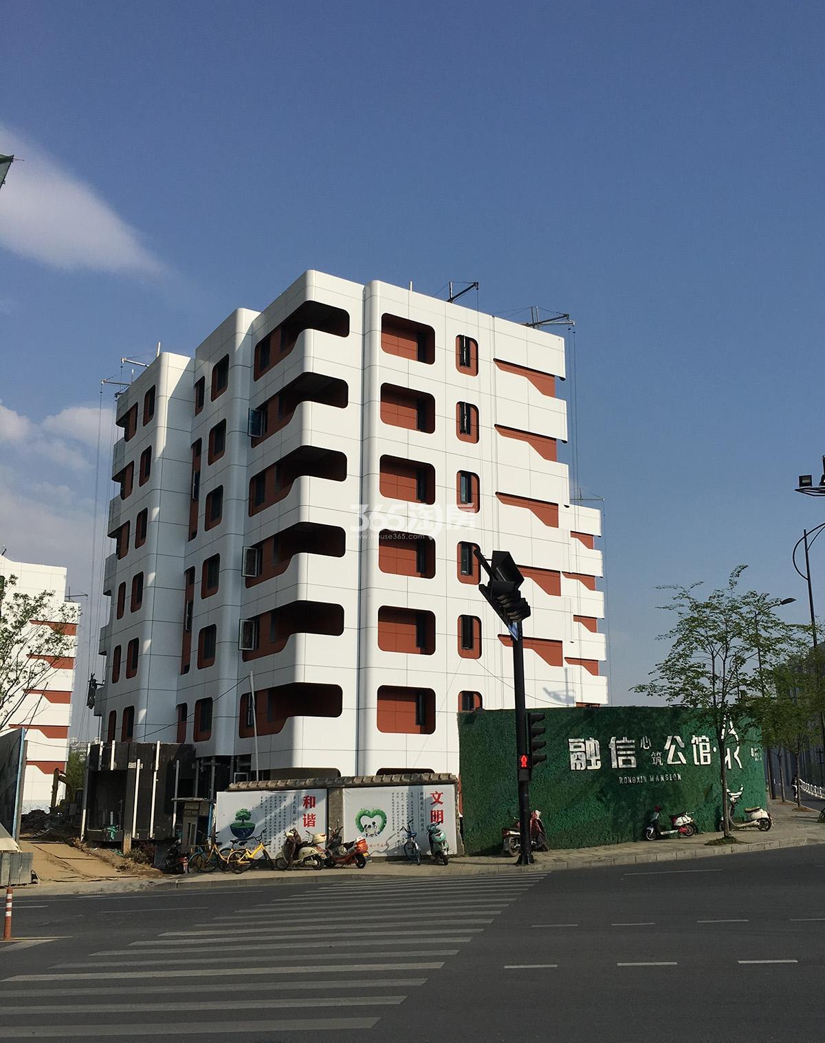2018年4月初融信公馆ARC项目1号楼(地名幢号)实景