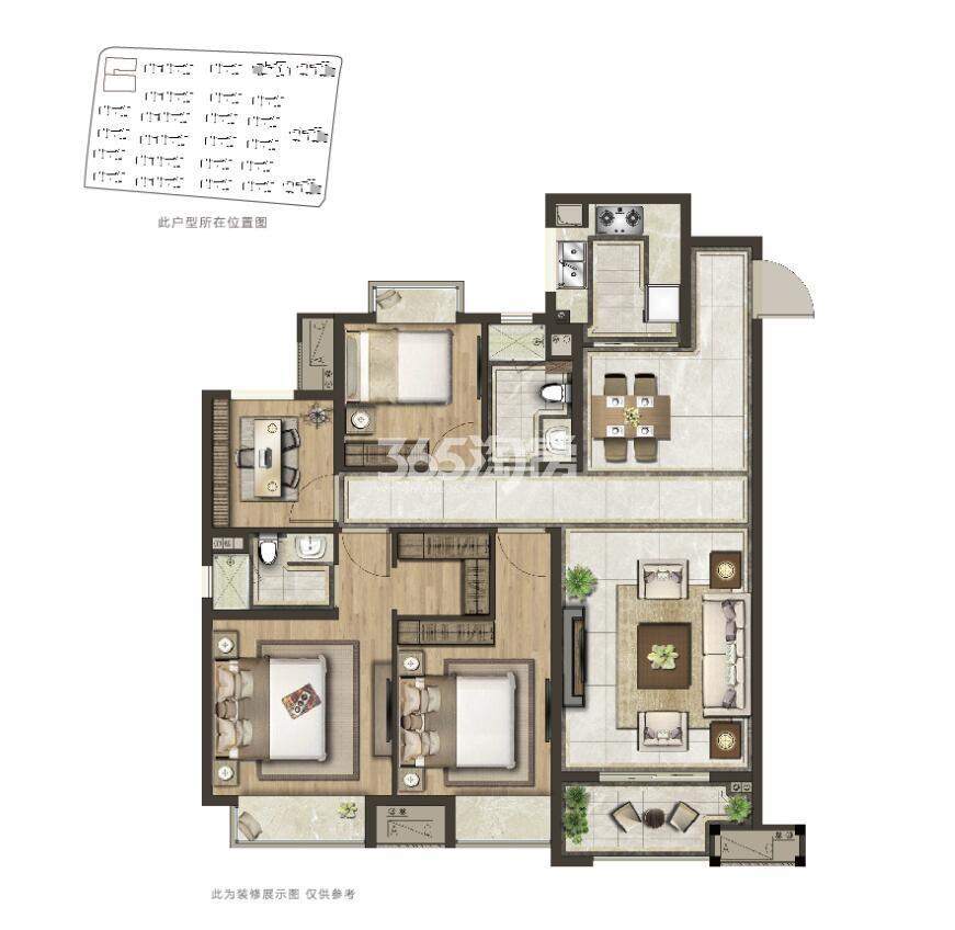 光明合景玺悦珑庭130平高层户型图