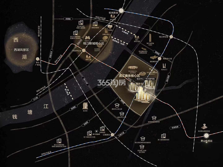 信达中心|杭州壹号院交通图