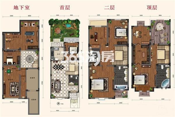 别墅A1户型 6室1厅1厨4卫
