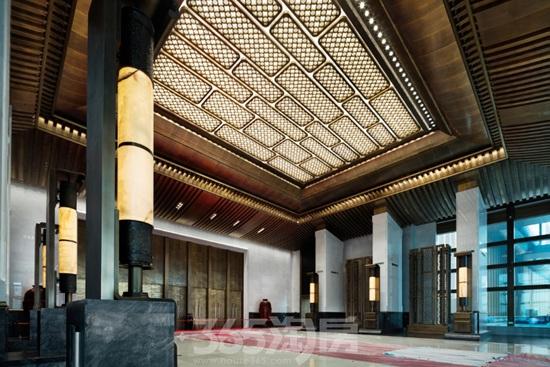 金螳螂作品之杭州国际博览中心前厅(资料图片)