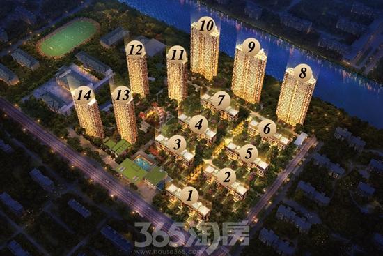 龙湖天钜项目鸟瞰图(资料图片)