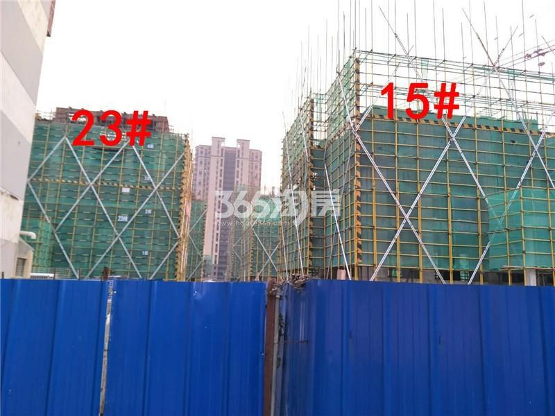 绿地理想城悦湖公馆在建15、23#楼实景图(12.14)