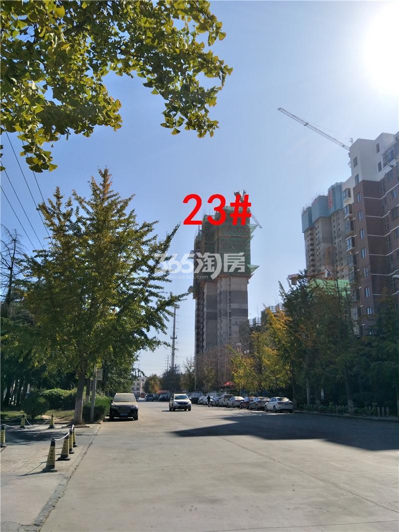 万科新都会在建23#楼及周边环境实景图(10.19)