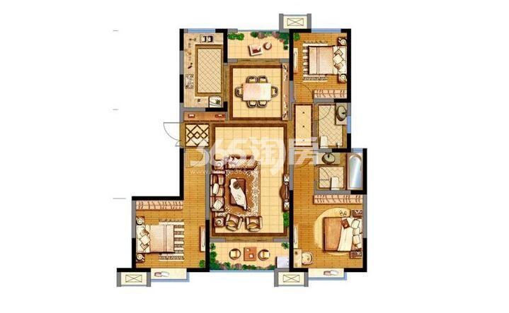 德杰德裕天下15/19#楼3室2厅2卫1厨138.92平
