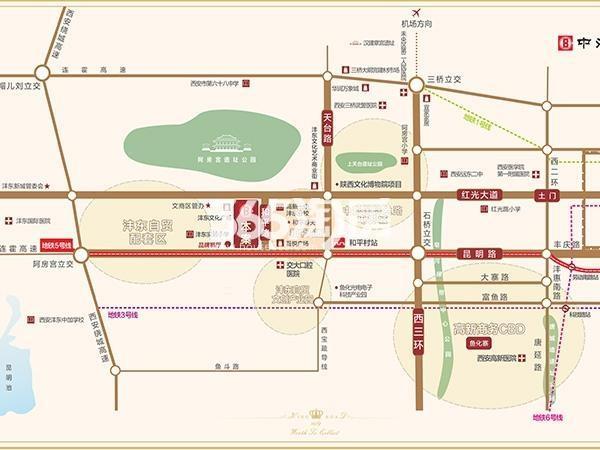 中海昆明路九号交通图