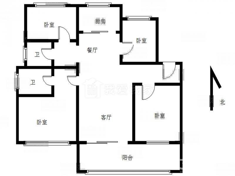 栖霞区仙林湖新城香悦澜山4室2厅户型图