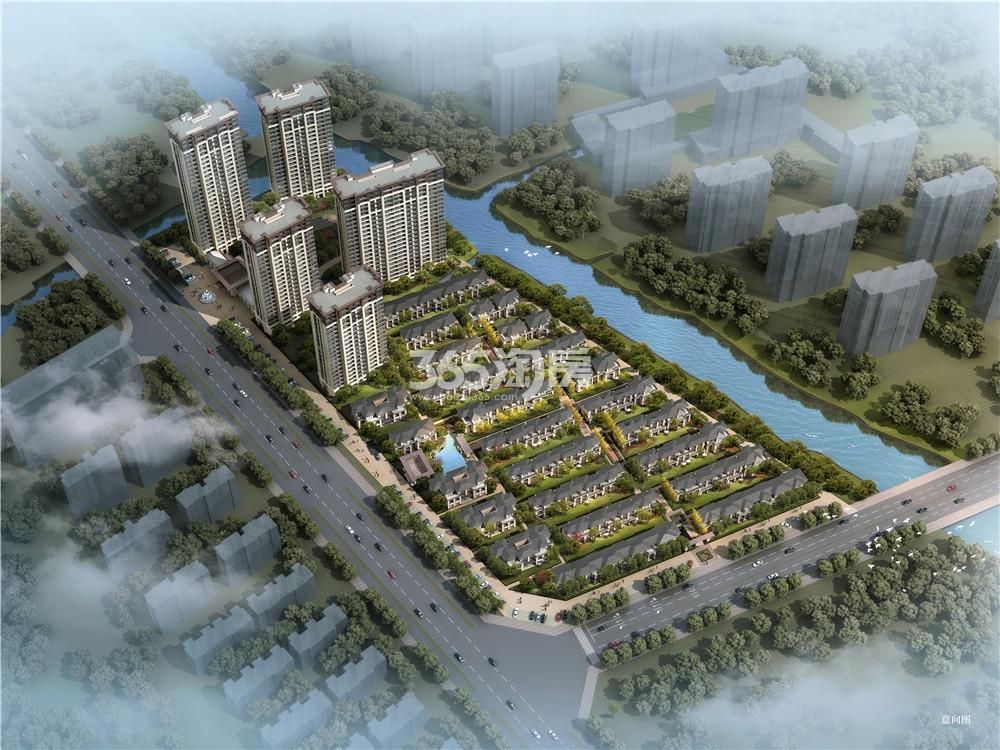 万城·赞园鸟瞰图