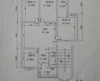 小娄巷横街4室1厅1卫135平米整租精装