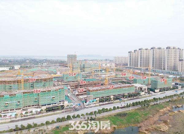 融创玉兰公馆1-21#多栋楼施工图(2017.12摄)