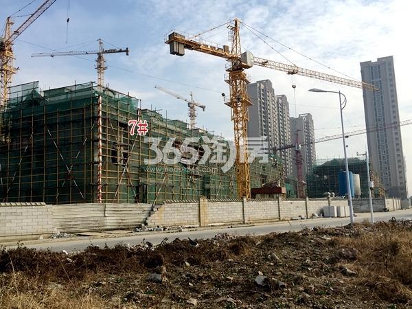 洛城·紫园7#楼联排别墅工程进度(2017.12)