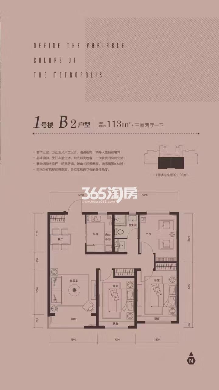 三室两厅一卫 113平米
