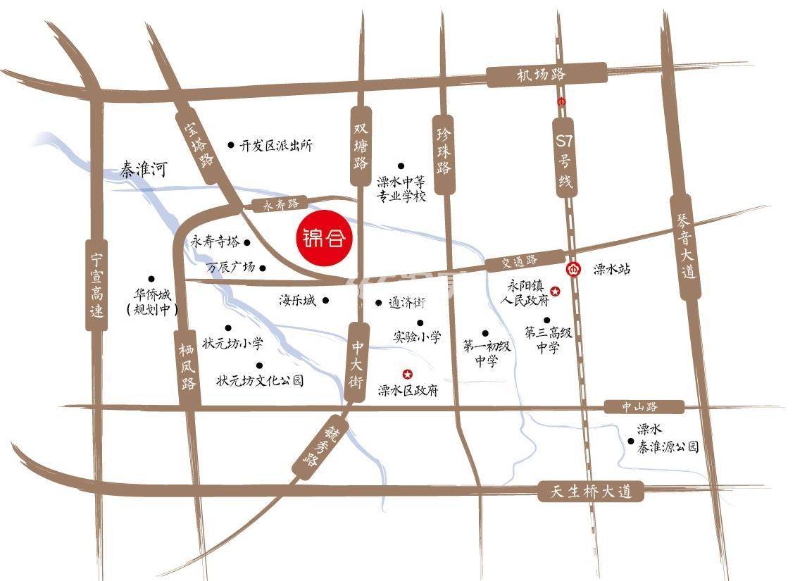 中交锦合交通图