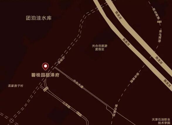 碧桂园丽泽府交通图