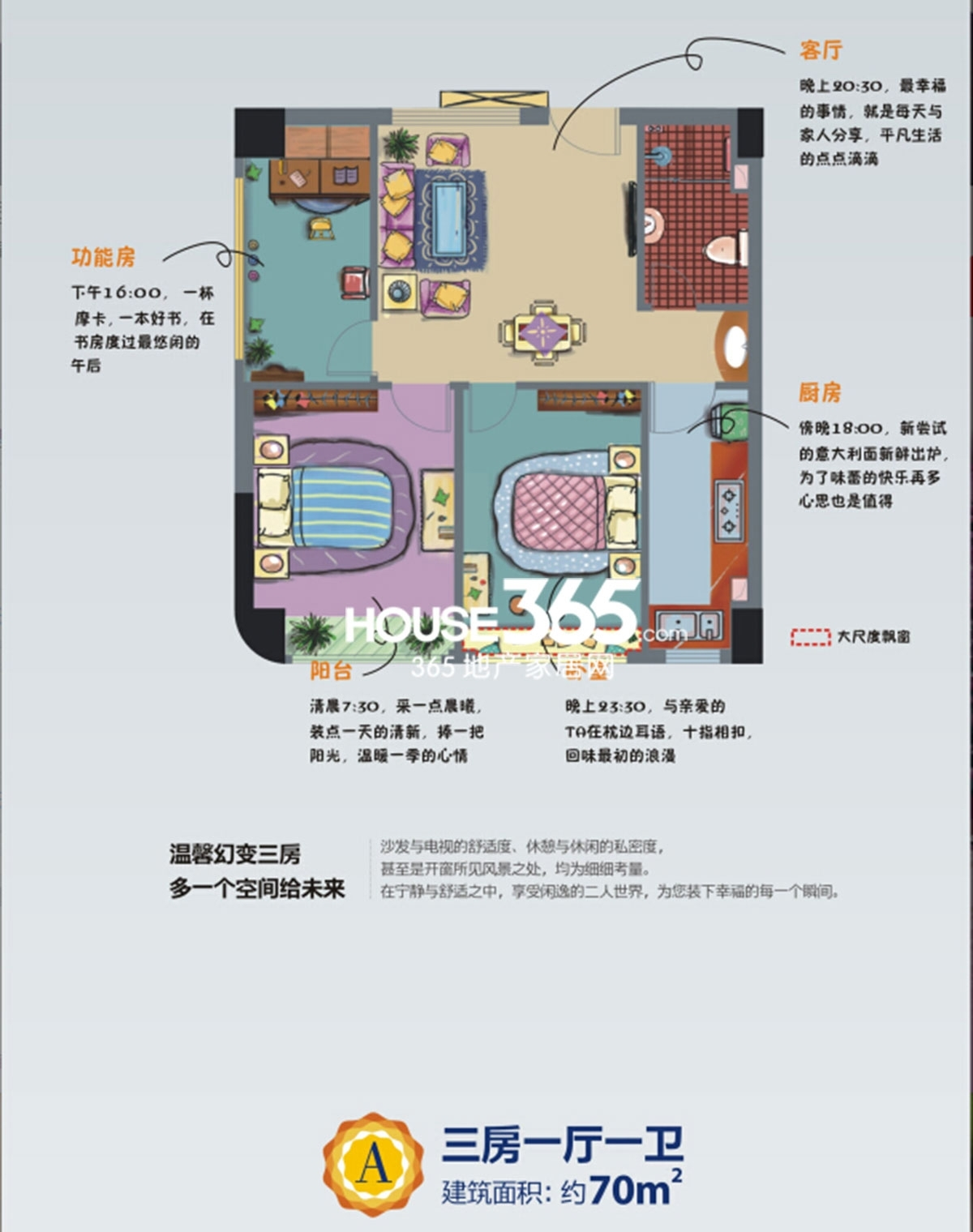 BINGO缤购70平米户型图