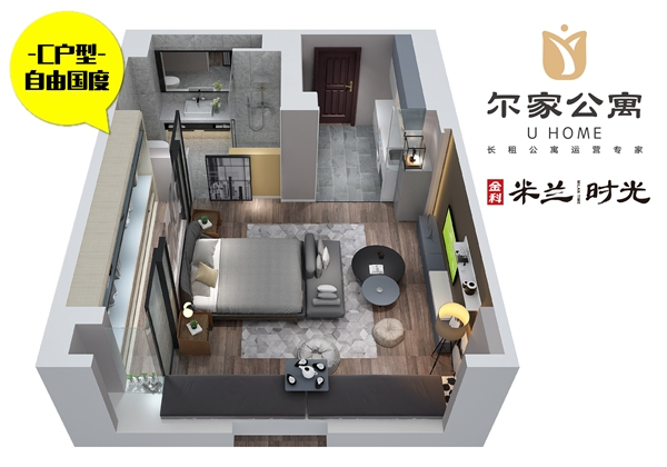 金科米兰尔家公寓C户型