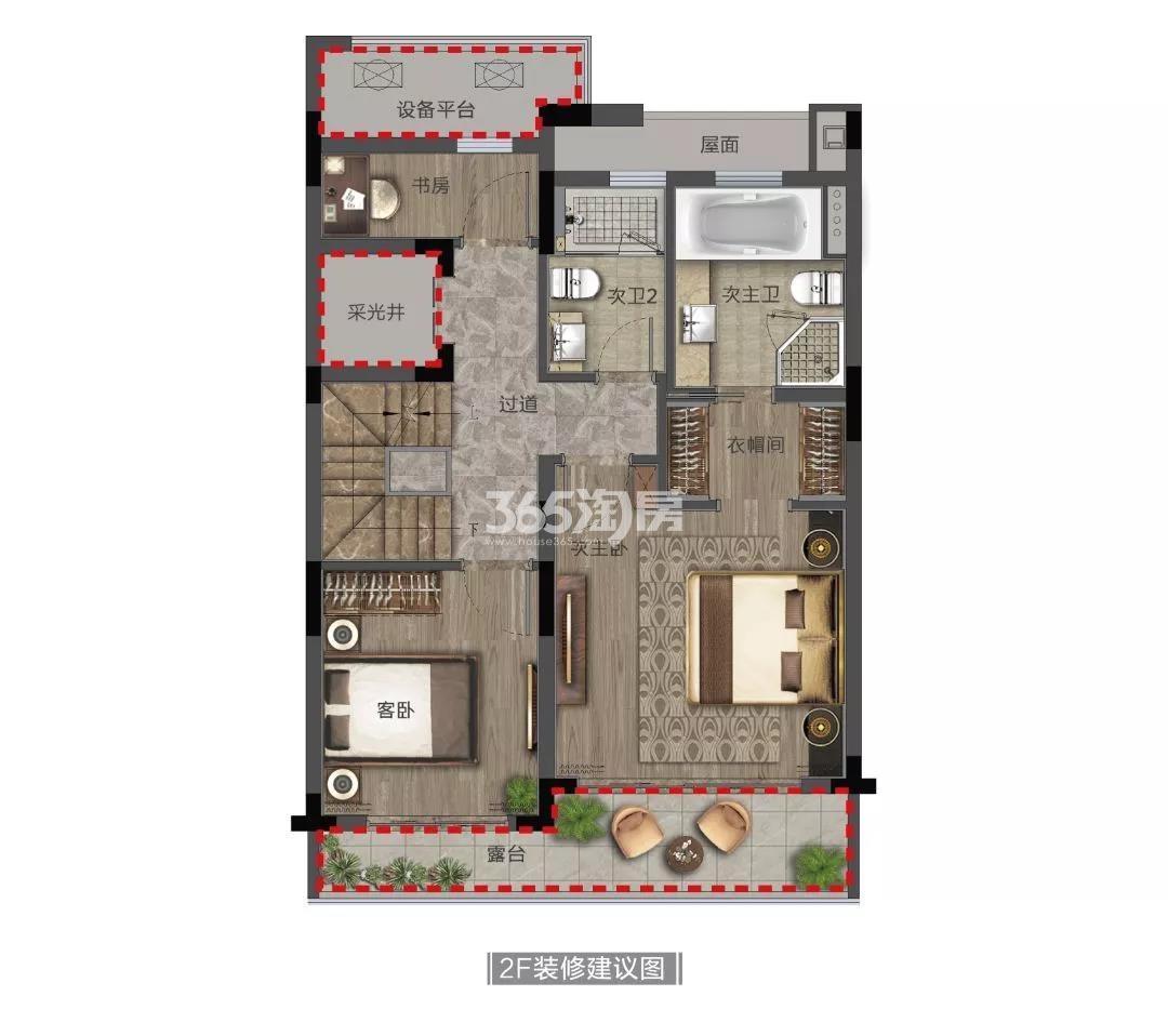 奥克斯金宸玖和府排屋165方(二楼)