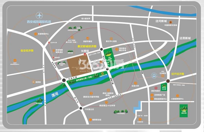 德杰秦汉国际交通图