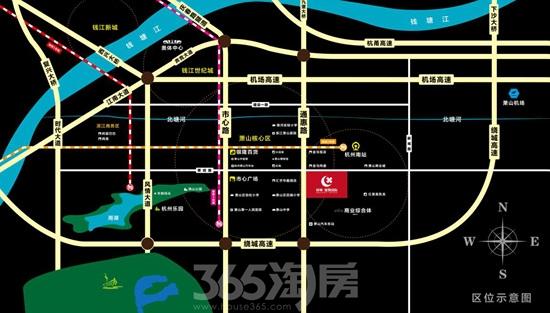 绿城雄凯国际区位图(资料图片)