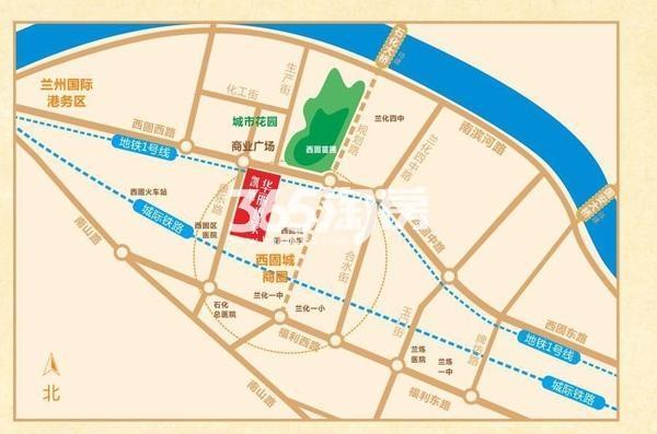 凯地华丽世家交通图
