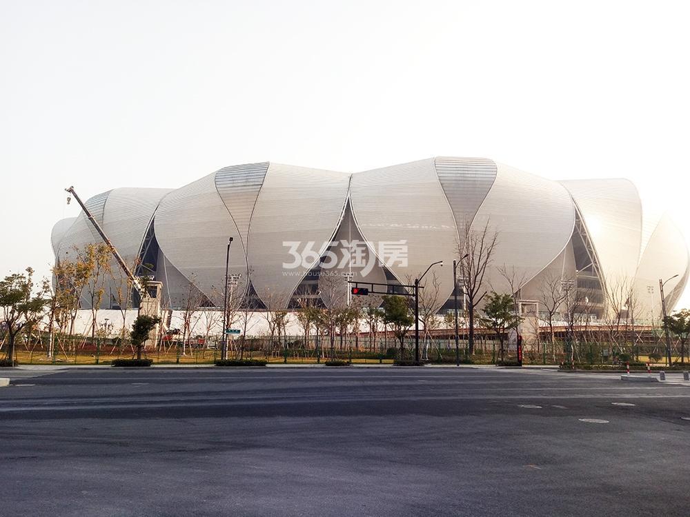 2017.12.26信达中心|杭州壹号院周边的奥体莲花碗
