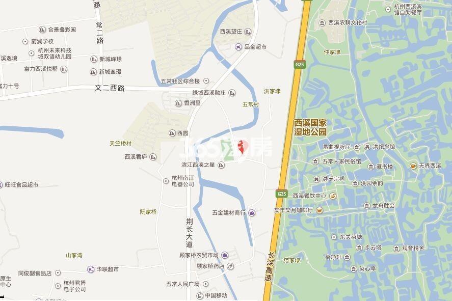 香港兴业耦园交通图