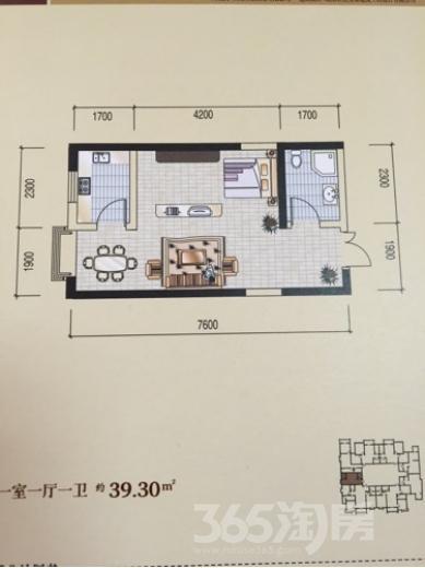 汉庭香榭1室1厅1卫40平米毛坯产权房2017年建