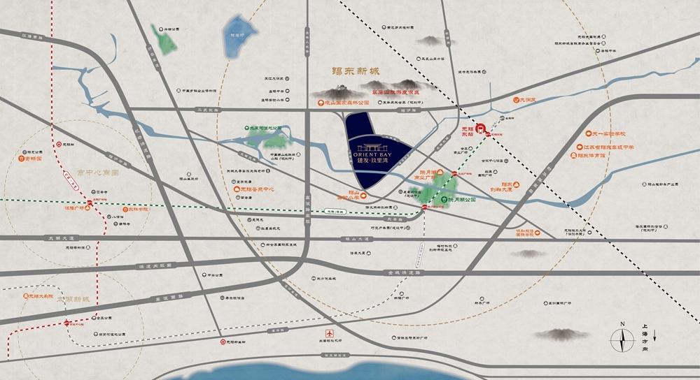 建发玖里湾交通图