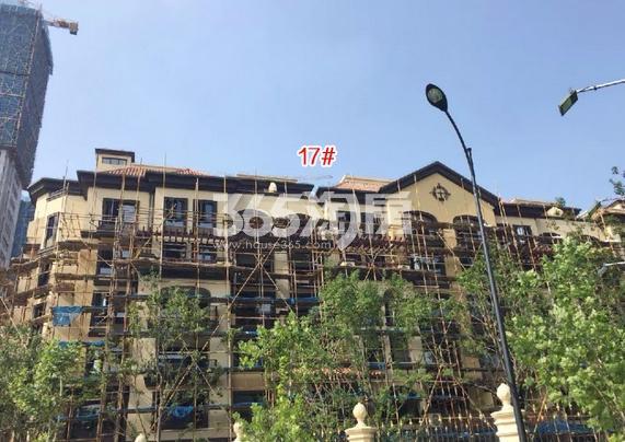 中国铁建西湖国际城17号楼施工进程(2018.8)