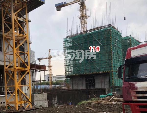 栖霞栖庭二期11#楼工程实景图(2018.8 摄)