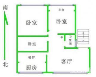 中建华府小区两室两厅带储藏间仅售73万