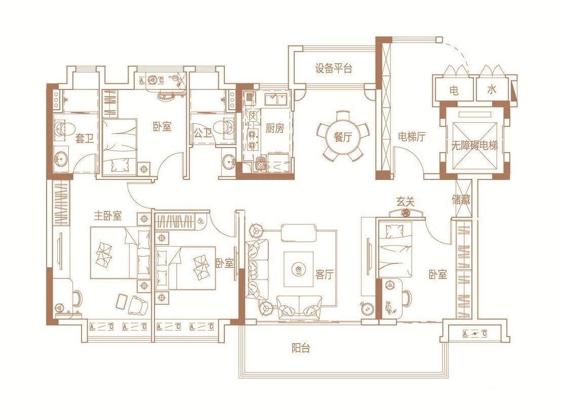 A3 142㎡  4室2厅